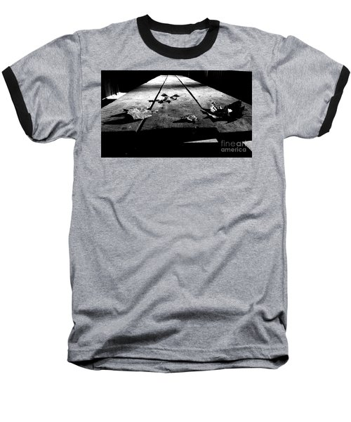 Schooled In Thought - Black And White Baseball T-Shirt