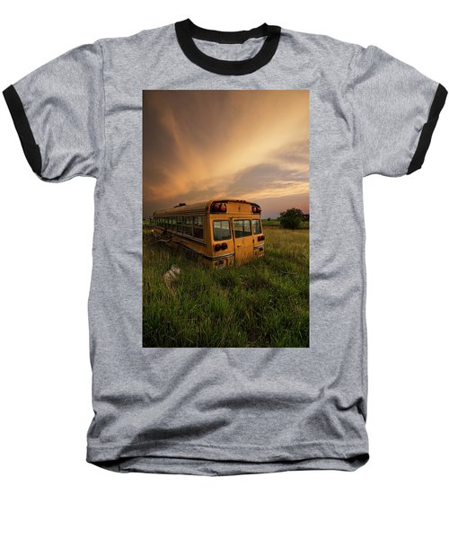 Baseball T-Shirt featuring the photograph School's Out  by Aaron J Groen