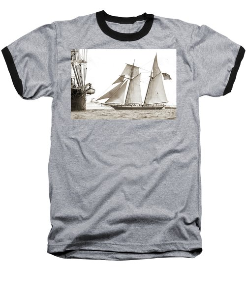 Schooner Lynx Full Sail Baseball T-Shirt