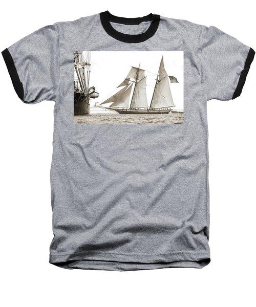 Schooner Lynx Full Sail Baseball T-Shirt