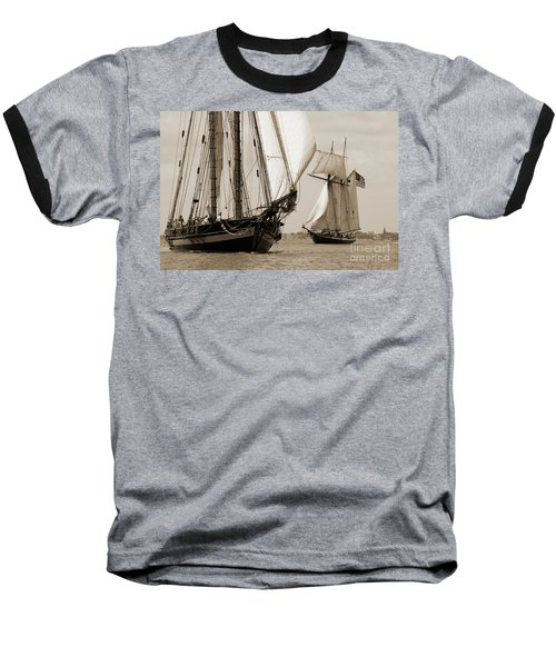 Schooner Pride Of Baltimore And Lynx Baseball T-Shirt