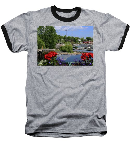 Schooners And Flowers, Camden, Maine Baseball T-Shirt