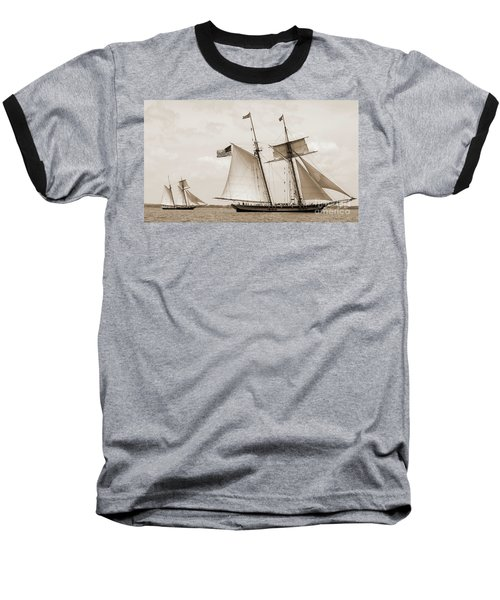 Schooners Pride Of Baltimore And Lynx Baseball T-Shirt