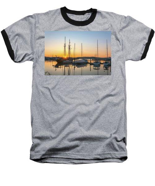Schooners Sunburst Baseball T-Shirt by Angelo Marcialis