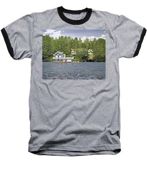 Baseball T-Shirt featuring the painting Schultz Summer Home Muskoka by Kenneth M Kirsch