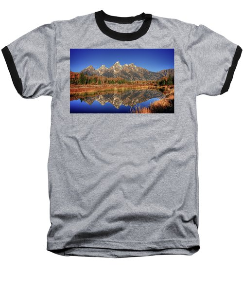 Schwabacher Landing Grand Teton National Park Baseball T-Shirt by James Hammond