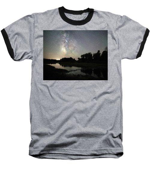 Schwabacher's Landing At Night Baseball T-Shirt