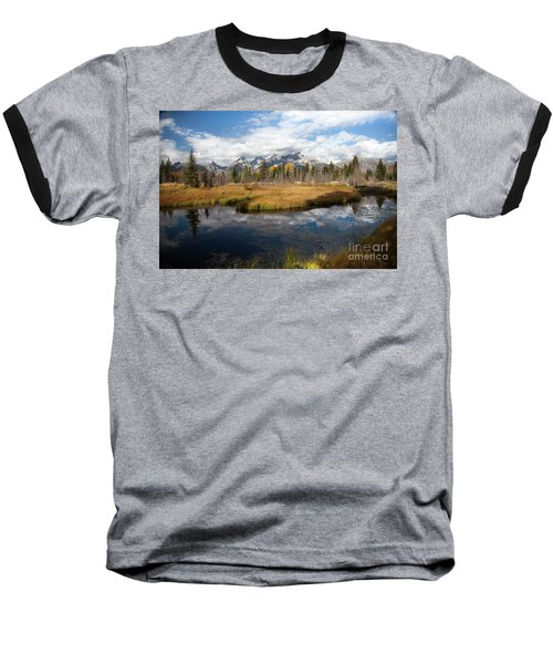 Schwabachers Landing, Grand Teton National Park Wyoming Baseball T-Shirt