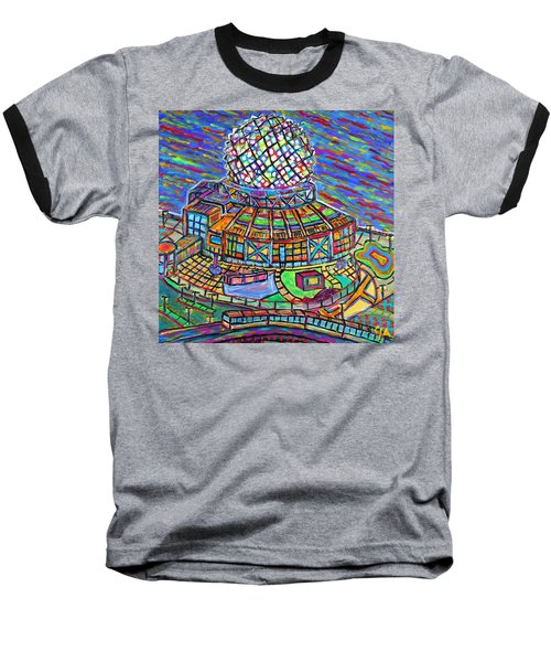 Science World, Vancouver, Alive In Color Baseball T-Shirt by Jeremy Aiyadurai