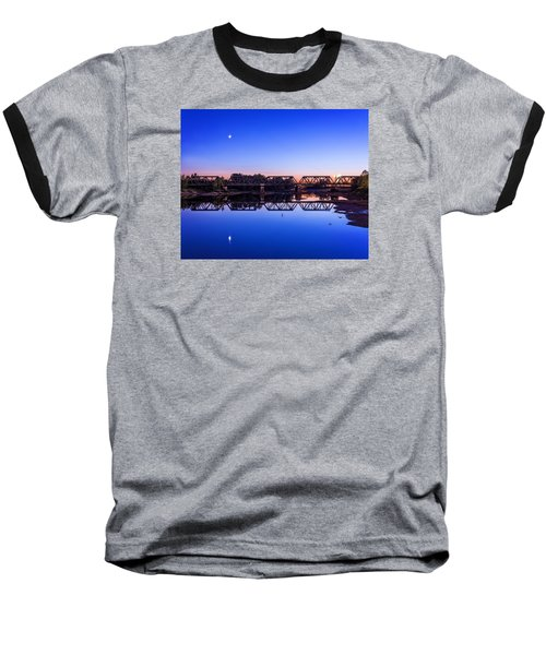 Baseball T-Shirt featuring the photograph Scioto Sunset Crossing by Alan Raasch
