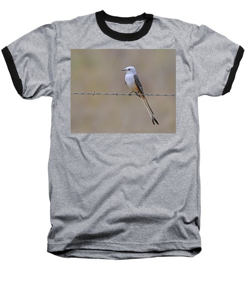 Scissor-tailed Flycatcher Baseball T-Shirt by Tony Beck