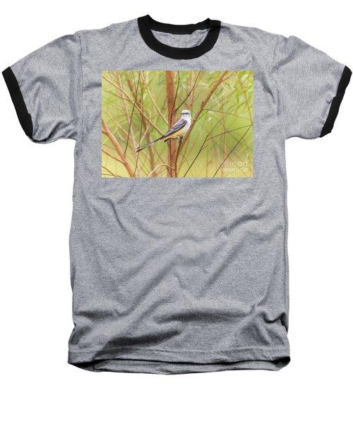 Scissortail In Scrub Baseball T-Shirt by Robert Frederick