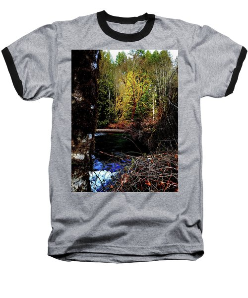 Scoggins Creek 3 Baseball T-Shirt by Jerry Sodorff