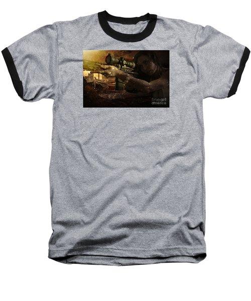 Scopped Baseball T-Shirt by David Bazabal Studios