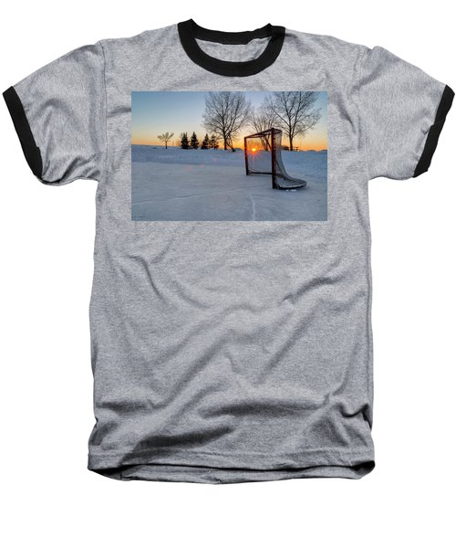 Baseball T-Shirt featuring the photograph Scoring The Sunset 2 by Darcy Michaelchuk