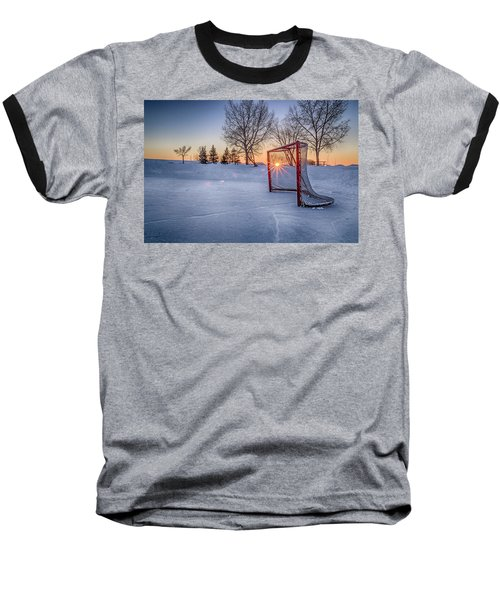 Baseball T-Shirt featuring the photograph Scoring The Sunset 3 by Darcy Michaelchuk