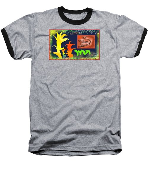 Baseball T-Shirt featuring the digital art Scorpio by The Art of Alice Terrill