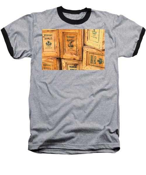 Scott Farm Apple Boxes Baseball T-Shirt