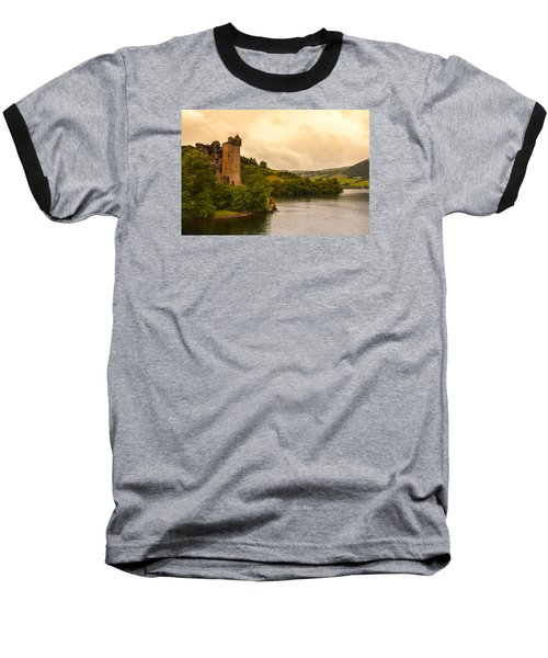 Scottish Castle Baseball T-Shirt