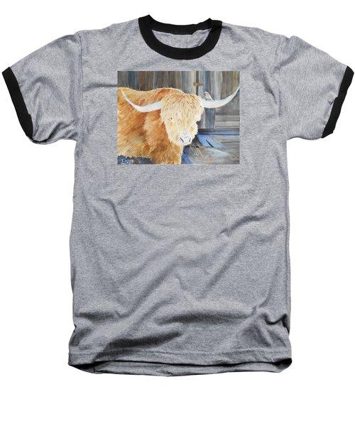 Scottish Highland And Friend Baseball T-Shirt