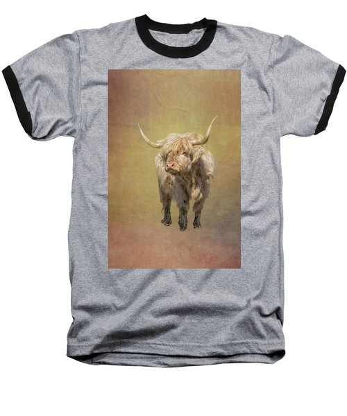 Scottish Highlander Baseball T-Shirt