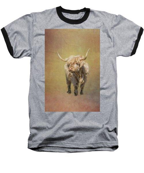 Scottish Highlander Baseball T-Shirt