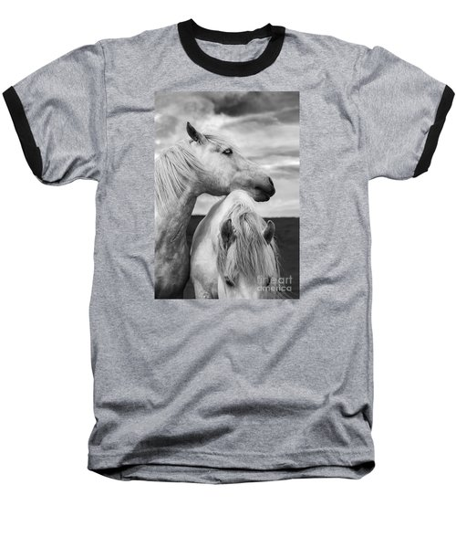 Scottish Horses Baseball T-Shirt