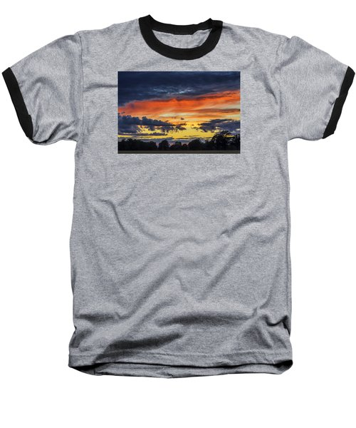 Baseball T-Shirt featuring the photograph Scottish Sunset by Jeremy Lavender Photography