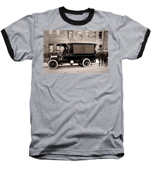 Scranton Pennsylvania  Bureau Of Police  Paddy Wagon  Early 1900s Baseball T-Shirt