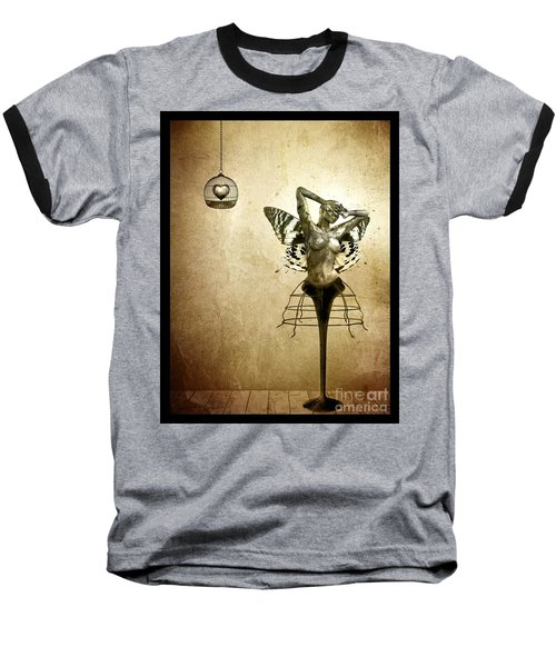 Scream Of A Butterfly Baseball T-Shirt by Jacky Gerritsen