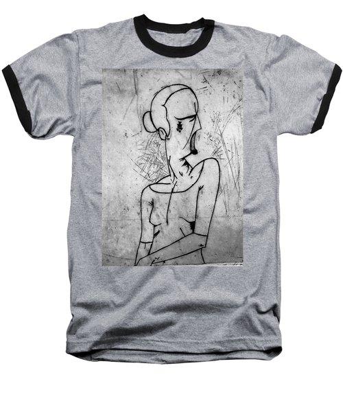 Screamer Baseball T-Shirt by Thomas Valentine