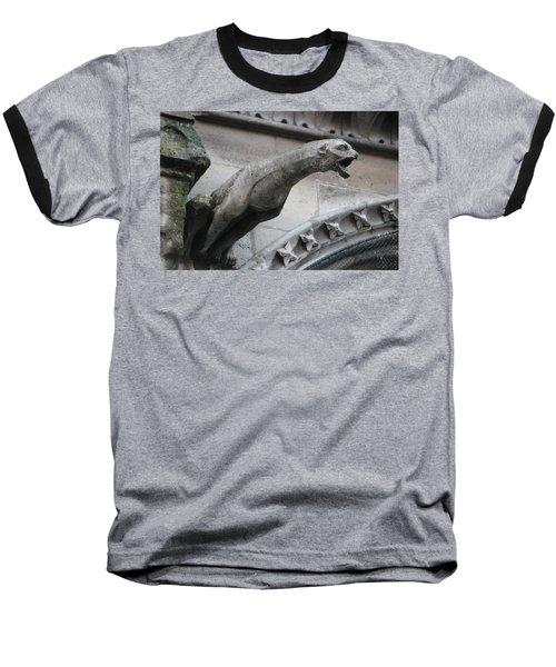 Screaming Griffon Notre Dame Paris Baseball T-Shirt