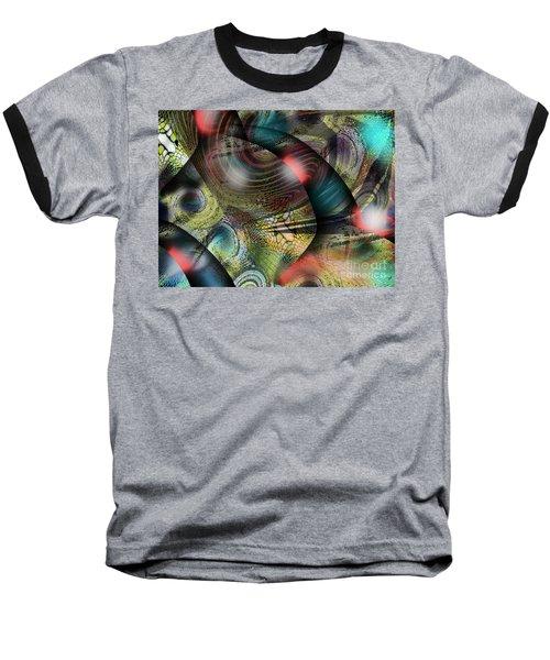 Screaming Spirals Baseball T-Shirt by Yul Olaivar