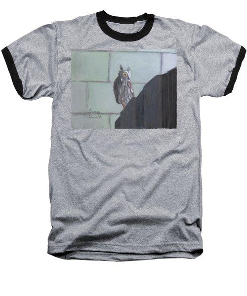 Screech Owl On Gate To Pergola Baseball T-Shirt