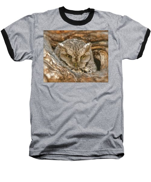 Screech Owl On Spring Creek Baseball T-Shirt