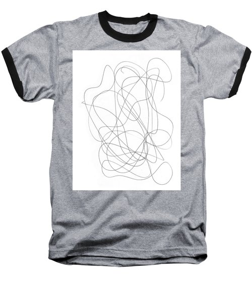 Scribble For Grin And Bear It Baseball T-Shirt by Ismael Cavazos