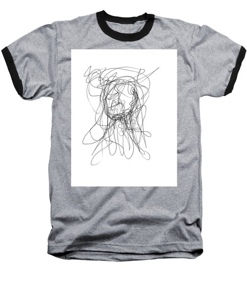 Scribble For Gusts, Dust, The Sun... Baseball T-Shirt by Ismael Cavazos