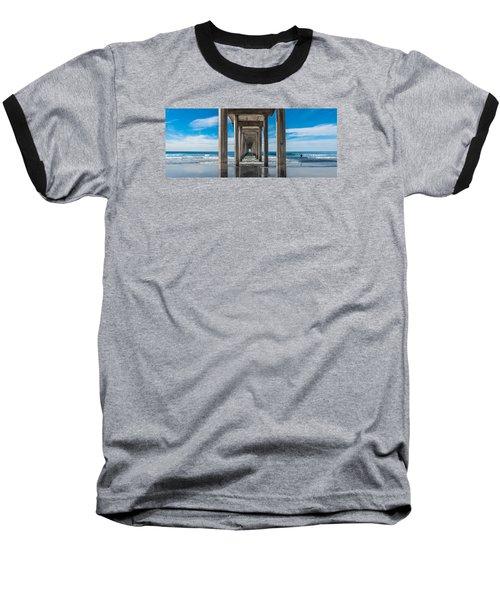 Scripps Pier La Jolla California Baseball T-Shirt