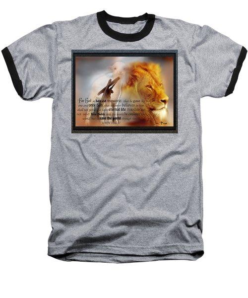 Scripture Art    Lamb Of God Baseball T-Shirt