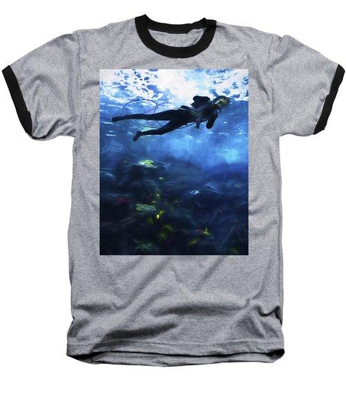 Scuba Diver Baseball T-Shirt
