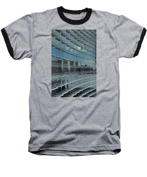 Sculpted Mirrors Baseball T-Shirt by Michiale Schneider