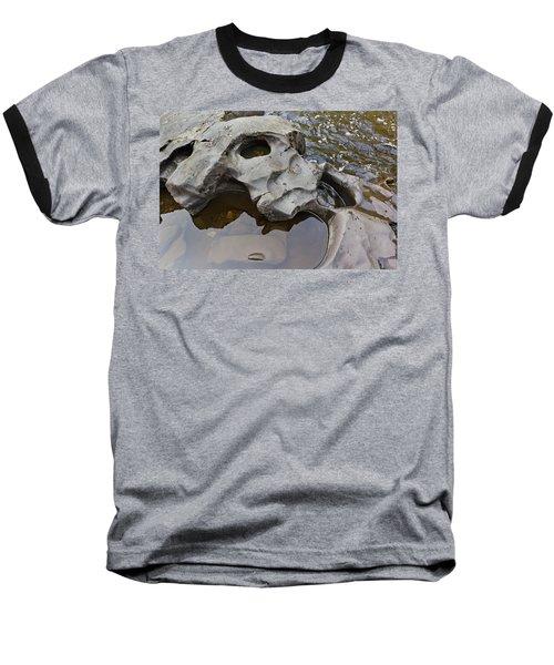 Sculpted Rock Baseball T-Shirt by Peter J Sucy