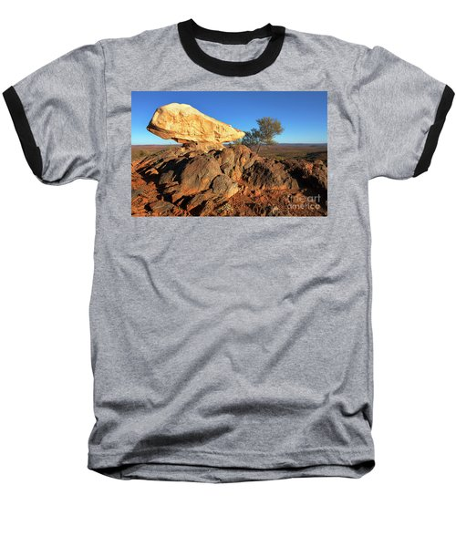Sculpture Park Broken Hill Baseball T-Shirt by Bill Robinson