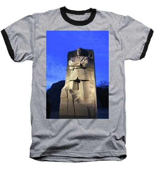 Sculptured Profile Martin Luther King Jr. Baseball T-Shirt