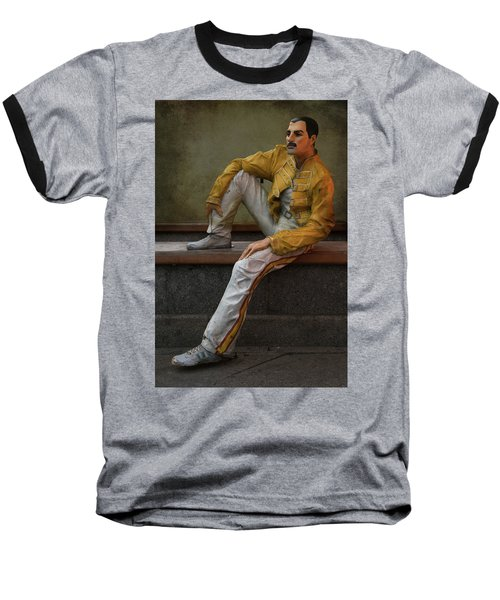 Sculptures Of Sankt Petersburg - Freddie Mercury Baseball T-Shirt