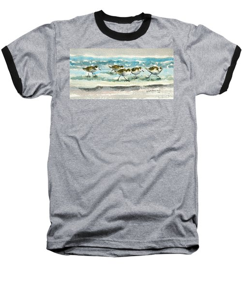 Scurrying Along The Shoreline 2  1-6-16 Baseball T-Shirt