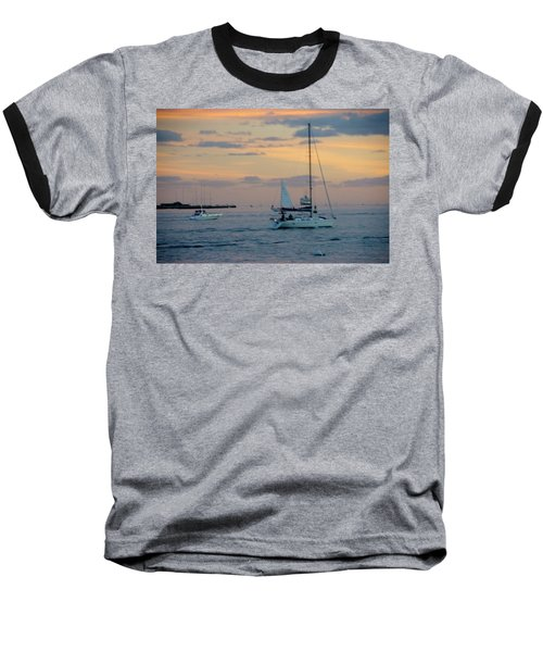 Sd Sunset 3 Baseball T-Shirt