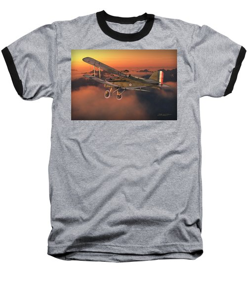 S.e. 5a On A Sunrise Morning Baseball T-Shirt by David Collins