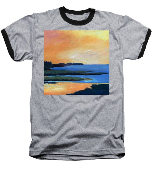 Baseball T-Shirt featuring the painting Sea And Sky by Gary Coleman