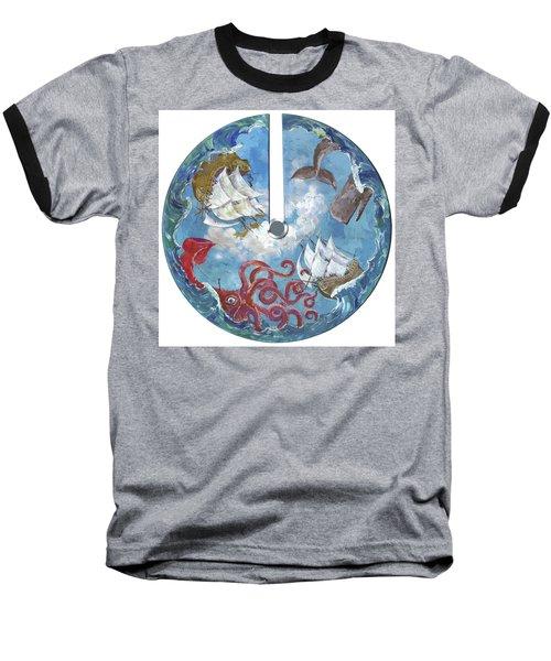 Sea Battle Baseball T-Shirt